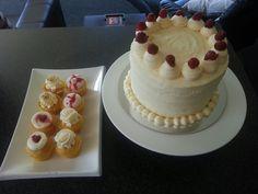 Raspberry and lemon cake and cupcakes-high tea