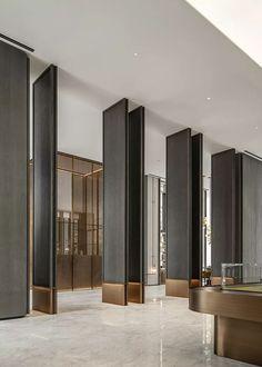 Modern Office Design, Modern Interior Design, Modern Offices, Office Designs, Door Design, Wall Design, House Design, Lobby Interior, Interior Architecture
