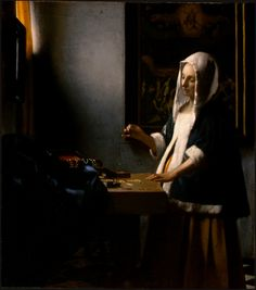 Cave to Canvas, Woman Holding a Balance - Johannes Vermeer, c....