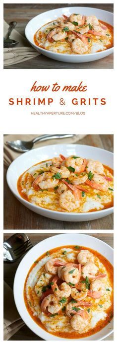 The classic combo of shrimp and grits gets a healthy recipe makeover.