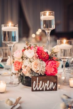 Bold pinks and soft blush make an amazing combination when considering floral for your reception! | Centerpiece photography by Matt Steeves Photography | Florida weddings by CocoLuna Events | LaPlaya Resort in Naples | Amazing wedding decor
