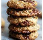 The best chocolate chunk lactation cookies, recipe on http://steel-cut-oats.com