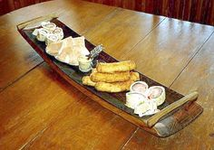 wine barrel stave serving tray