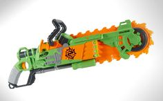 Nerf has announced their newest creation that's coming soon. The Nerf Zombie Strike Brainsaw Blaster, a nerf gun that actually has a working foam chainsaw.