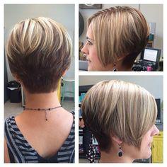 "Growing-out pixie? Short layered graduated cut with short, blocked nape. (""Gorgeous short hair  @crushsalonanddrybar #hair #hairstyles #hairfinder #shorthair #fashion #shortcut #pixie #nape #haircut"")"