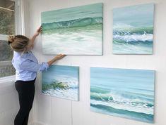 Canvas Paper, Oil On Canvas, Original Paintings, Original Art, The Beautiful South, Sense Of Life, Moving Water, Beach Scenes, Ocean Art