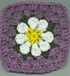 CrochetMaryEllen's BLOG: Easy Daisy Granny Square. I've seen this done in two colors only -- cream and beige and it was beautiful. I may give this one a try!