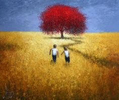 "Dima Dmitriev ""The Tree of Life 2013"" . Oil on black canvas, palette knife. 130 x 110 cm."