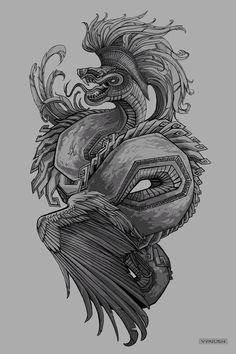 Quetzalcoatl Design by Vyrilien on DeviantArt