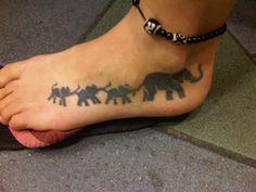 elephant foot tattoo