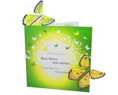 """BAYER - Schmetterlingsmailing """"50 Jahre Supradyn"""" (Gestaltung: Atelier Rippstein)"""
