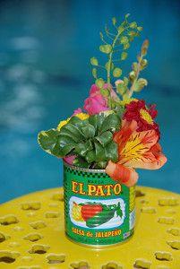 Fun fiesta centerpieces for a Cinco De Mayo party