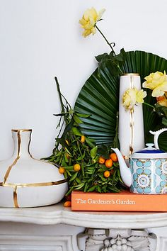 Fused Gold Vase #anthropologie