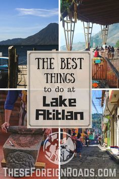 The Best Things to do at Lake Atitlan - These Foreign Roads Lake Atitlan in Guatemala is an amazing place to check out. The quietness and serenity of the lake is great for yoga, relaxing, or even partying! Check out why you should go here! San Pedro Guatemala, Guatemala City, Honduras, Costa Rica, Travel Guides, Travel Tips, Atitlan Guatemala, Lake Atitlan, Road Trip