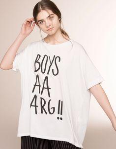 OVERSIZE 'BOYS AARG' T-SHIRT - T-SHIRTS & TOPS - WOMAN - PULL&BEAR Albania