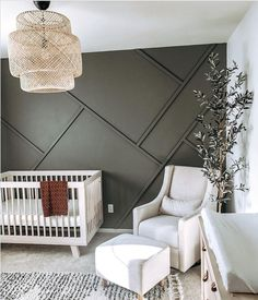 Project Nursery - Wood Accent Walls Trend - Nursery by @home.and.ro