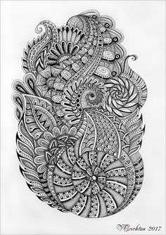 Viktoriya Crichton_Ukraine_Zentangle art, graphic, zentangle inspired, zenart, artdrawing, artnet, hand-made, pattern, tangle, abstract, design, graphic, monochrome, blackandwhite, Drawing Illustration, liner