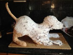 cat  sculpted cakes | Sculpted Dog - by TheCakeArtisan @ CakesDecor.com - cake decorating ...