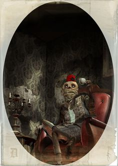 Portraits of classical monsters by Mica , via Behance
