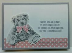 Baby Bear - Stampin Up Baby Zebra, New Baby Cards, Stamping Up, Hobbies And Crafts, Stampin Up Cards, Making Ideas, Cardmaking, New Baby Products, Birthday Cards