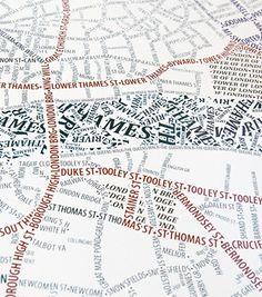 Carte Insolite De Londres Pour Les Amoureux Des Lettres Axis Typographic Maps