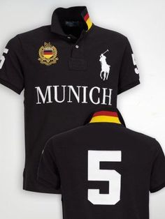Ralph Lauren Munich NO.5 Polo Shirt Black… Polo Bleu, Ralph Luaren, 59899fa03882