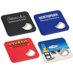 The bottler opener custom coaster is actually two items in one! Wow recipients with this useful and unique promotional product.  Corner of coaster features a bottle opener Coaster bottom is EVA foam