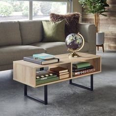 ClosetMaid Industrial Coffee Table - Natural