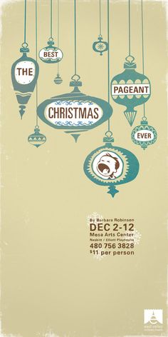 EVCT Best Christmas Pageant poster 600w 01 pic on Design You Trust
