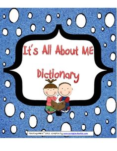 "Let your students show their dictionary skills off with a fun ""All About Me"" dictionary book.   $3.00   # Pinterest++ for iPad #"
