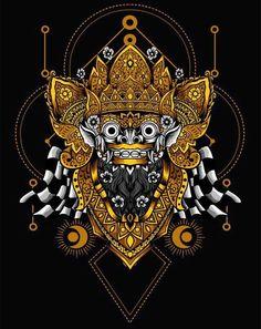 Barong Bali, Indonesian Art, Black And White Artwork, Batik Pattern, Skull Wallpaper, Poster Design Inspiration, Masks Art, Balinese, Skull Art