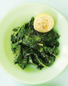 Sauteed Spinach with Garlic and Lemon - Martha Stewart Recipes