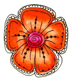 The Creative Spirit: FUN FRIDAY - 9 VERY easy steps to draw Doodle Flowers