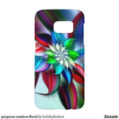 gorgeous rainbow floral samsung galaxy s7 case
