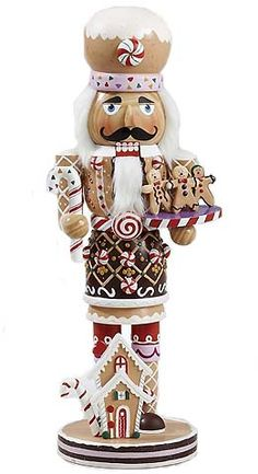 EVGENIA GL Kurt Adler Wooden and Polyresin Gingerbread Nutcracker - Christmas - kerstmis - holidays Christmas Traditions, Christmas Themes, All Things Christmas, Vintage Christmas, Christmas Holidays, Christmas Crafts, Merry Christmas, Christmas Decorations, Christmas Ornaments