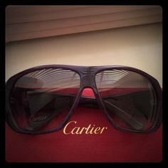 Purple Authentic Cartier Shades Gorgeous purple frame with light purple swirls; no scratches; comes with bag, cleaning cloth, case, & box Cartier Accessories Glasses