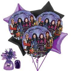 Disney Descendants 9Pc Balloon Bouquet Birthday Party Decoration Supplies~