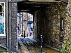 Skipton snicket...leading to little shops and pubs