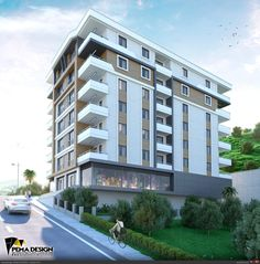 Samsun/2016 1 Residential Building Design, Hotel Apartment, Serviced Apartments, Building Facade, House Elevation, Skyscrapers, Modern House Design, Arches, Towers