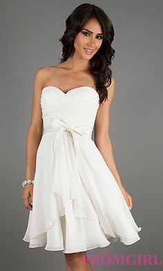 Bachlorette party dress Strapless Short Dress by Mori Lee 31013 at PromGirl.com