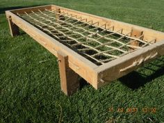 Rope Beds, Campaign Beds - N.B.: Full through M&T with peg to attach legs to frame.