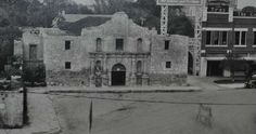 A picture of the old Alamo in San Antonio, TX