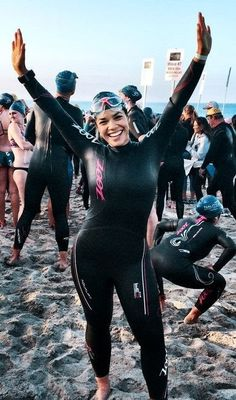 """Ferrera couldn't savor her Emmy win for """"Ugly Betty"""" because of a nagging voice that kept her from owning her successes. A competition changed that. Triathlon Women, Ironman Triathlon, Triathlon Training, Triathlon Tattoo, Triathlon Wetsuit, David Beckham Suit, Triathlon Clothing, Running Clothing, Ugly Betty"""