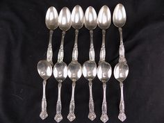 Antique RW&S Wallace Irving Sterling Silver Spoons  6 Soup and 6 Table pat. 1908 Silverware