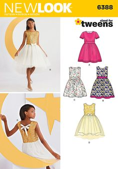 New Look Girls' Party Dresses 6388