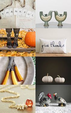 Thankful by ProjectSarafan.etsy.com #Thanksgiving #VintageAndMain