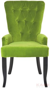 Arm Chair Elegance Barock Green Material: cover: polyester velvet, legs: pear wood lacquered, padding: polyurethane foam Size: 0,97 x 0,55 x 0,63 m Weight: 7,5 kg Номер пункта: 75888