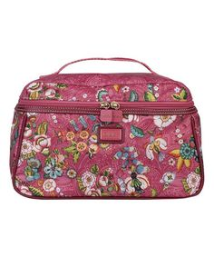 Loving this Pink French Flowers Beauty Cosmetic Bag on #zulily! #zulilyfinds