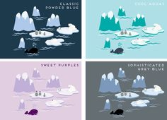 Polar bear nursery Reusable wall decals Extra by wordybirdstudios