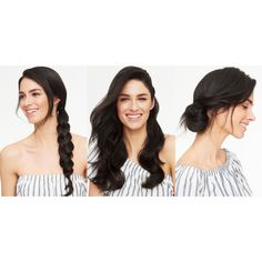 5 Gorgeous Hairstyles For When You're Out of Ideas ❤ liked on Polyvore featuring accessories